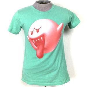 Super Mario Bro Boo Men's Nintendo Top Shirt Small